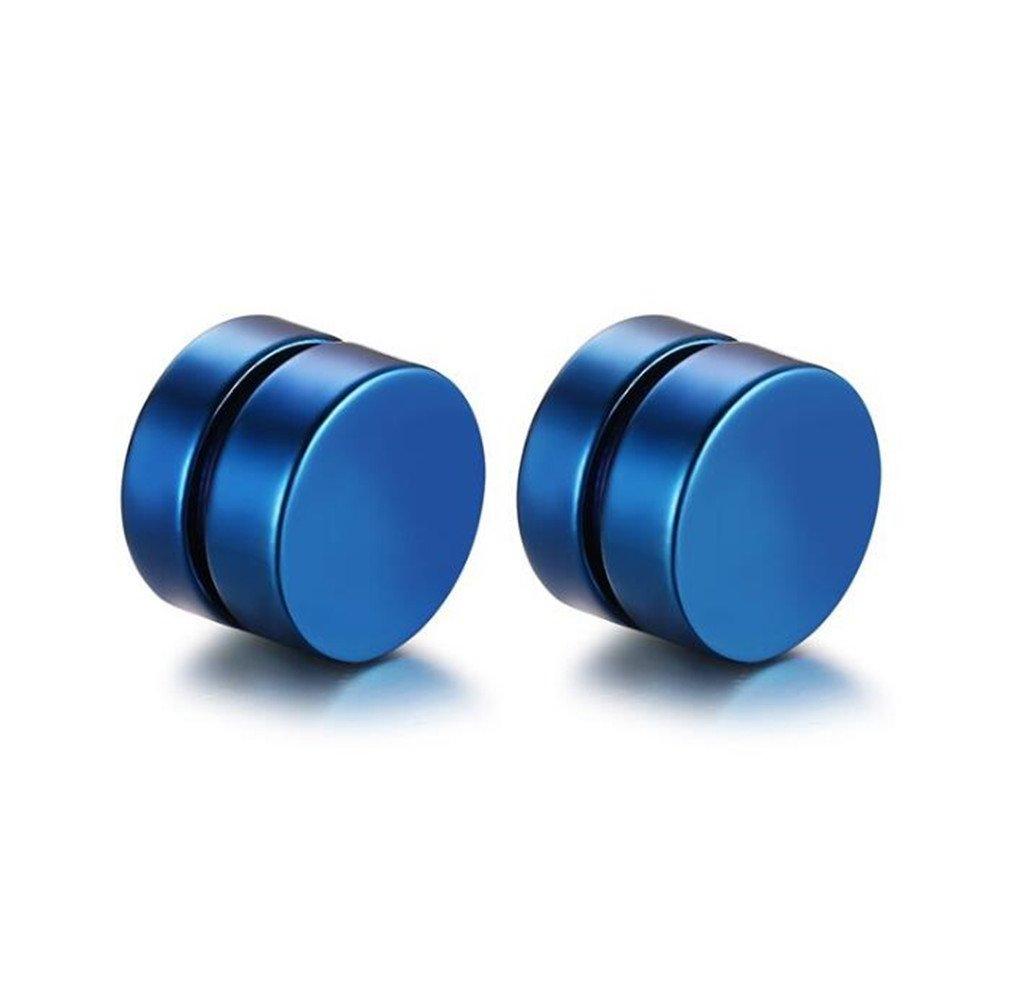 8MM Magnet Stud Earrings, Fake Plugs Gauges Non-Piercing Clip On Stud Earrings, Cheater Earring Studs for Non Pierced Ears