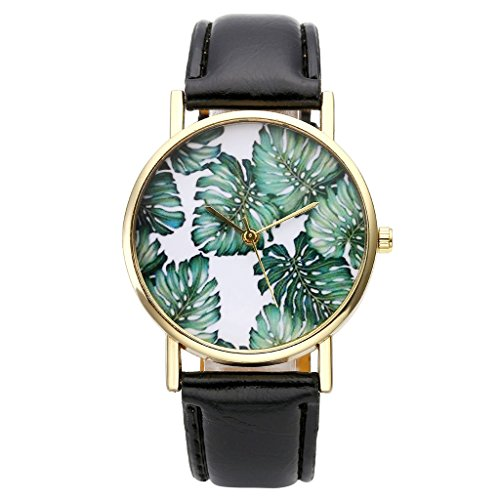 Top Plaza Banana Leather Watch Black