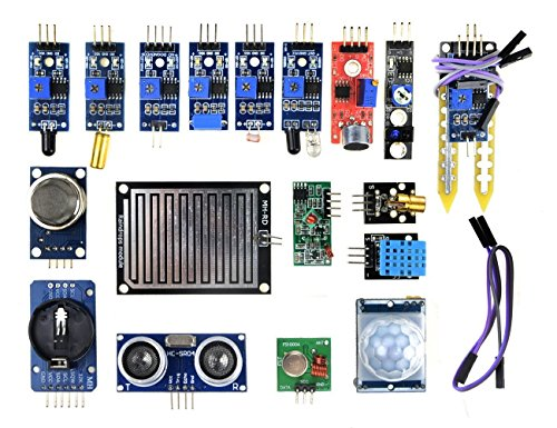 (WINGONEER 16pcs/lot Sensor Module Board Kit for Arduino Raspberry Pi 3/2 Model B)