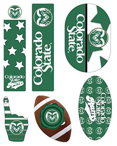 COLORADO STATE RAMS MAGNET SET-COLORADO STATE RAMS 6 PACK OF CAR MAGNETS-AWESOME TAILGATE PACK