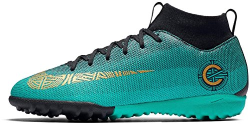 NIKE Jr MercurialX Superfly 6 Academy GS CR7 TF (Clear Jade) (1Y) by NIKE