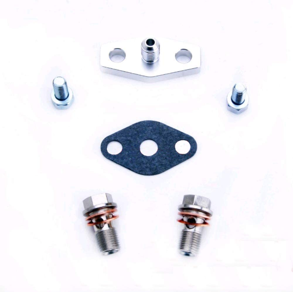 AVCS//Turbo Oil Feed Line For Subaru 02~06 WRX//04~14 STI w// T3 T04B T04E