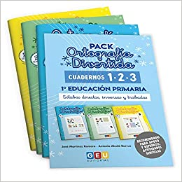 Pack Ortografía Divertida 1º primaria: Cuadernos 1, 2 y 3 | Material De Refuerzo Actividades sencillas | Editorial Geu Niños de entre 6 y 7 años: Amazon.es: José Martínez Romero: Libros