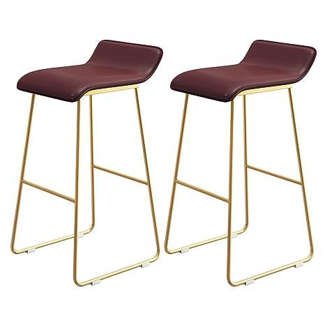 Amazon.com: LAXF-stool Set of 2 Barstools,Tall Kitchen Chair ...