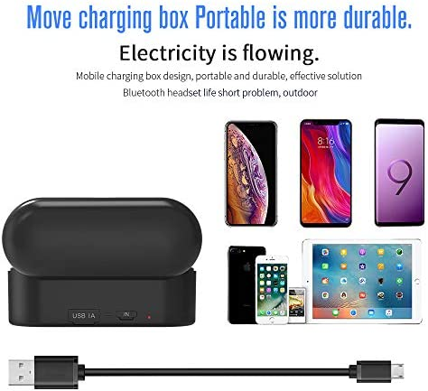 Black Wireless Earbuds, LiuHe Bluetooth V5.0 Headphones TWS Earphones with 1000 Mah Charging Case, IPX5 Waterproof in-Ear Stereo Earbuds with Mic for Sport