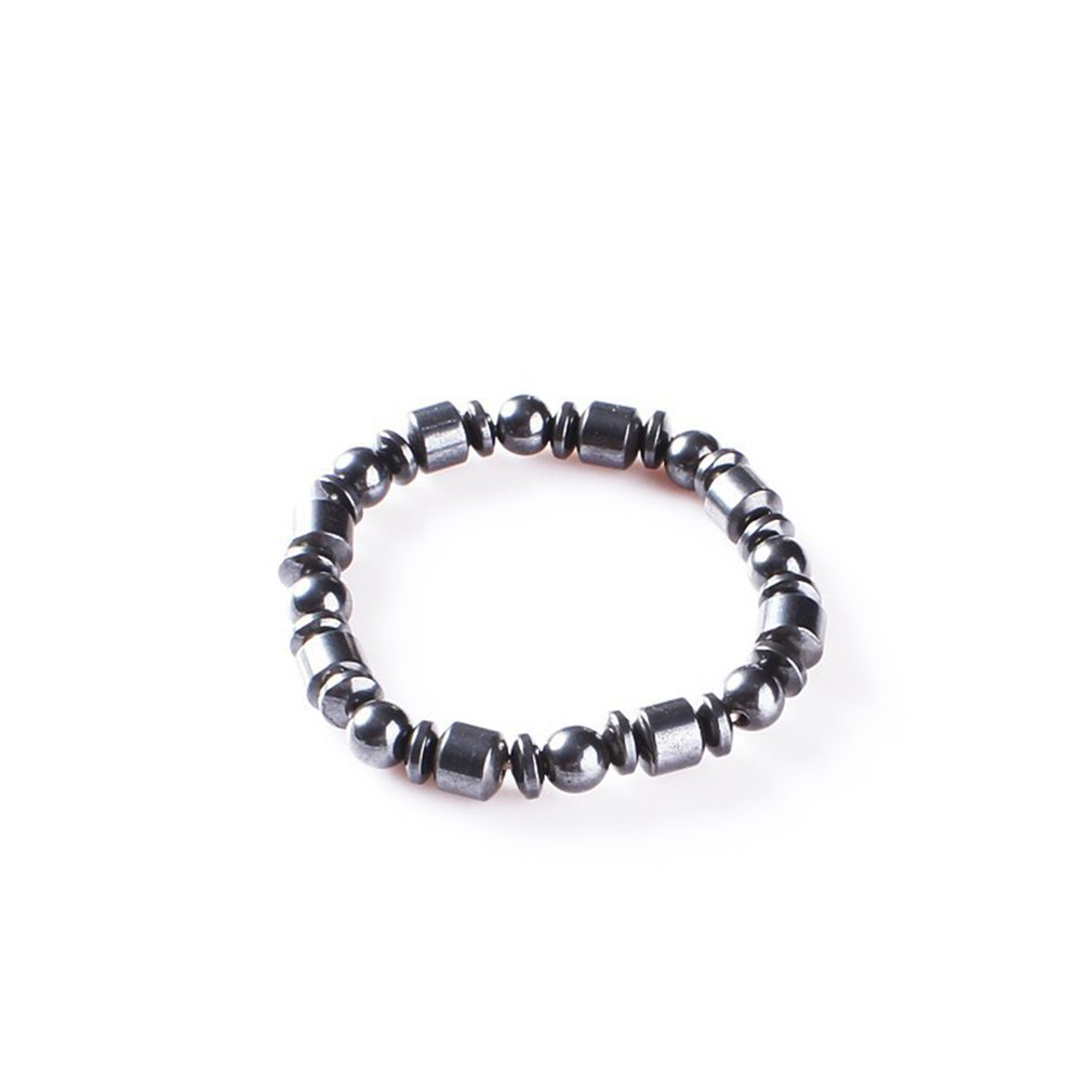 GUAngqi Beads Stretch Bracelet Powerful Magnetic Bracelet for Arthritis Pain Releif ,Black three kinds of beads,As description
