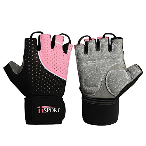 iiSPORT Workout Gloves for Men and Women, Anti-Slip Padded W