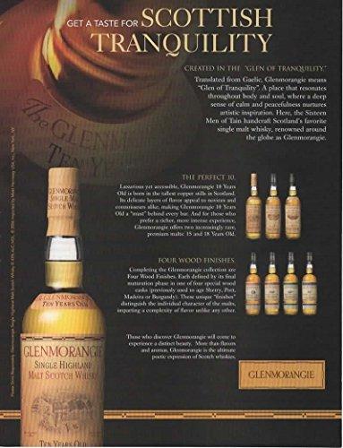 Magazine Print Ad: 2006 Glenmorangie Single Highland Malt Scotch Whisky, 10 years old,