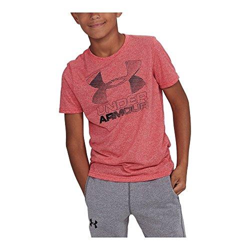 Under Armour Boys' Hybrid Big Logo T-Shirt,Red/Black, Youth Medium ()