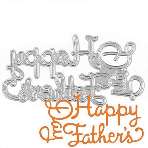 GOOTRADES Blessings Series Cutting Dies Metal Stencils Embossing for DIY Scrapbooking Craft (Happy Father's Day) ()