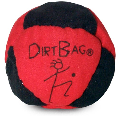World Footbag Dirtbag Hacky Sack Footbag, Red/Black by World Footbag