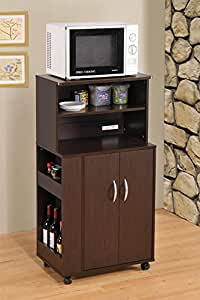 Amazon Com Kitchen Microwave Cart With Spice Rack And