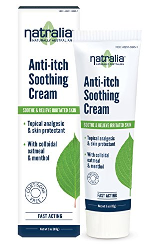 (Natralia Anti-Itch Soothing Cream, Oatmeal and Menthol, 3 Ounce)