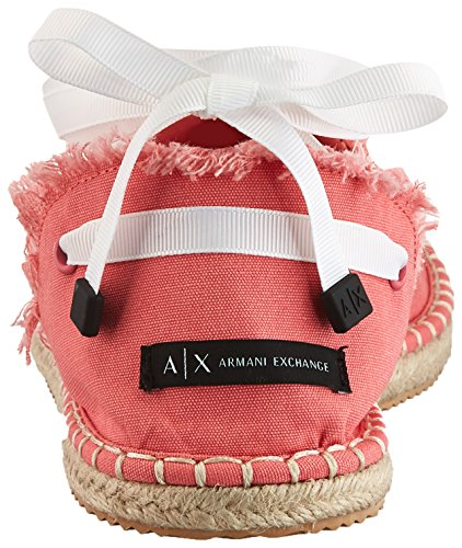 A Espadrilles Espadrilles Exchange Womens Armani X Armani Exchange Armani Soft Coral Canvas Exchange Canvas rg0rwfq