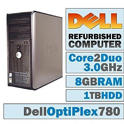 Dell OptiPlex 780 MT/Core 2 Duo 3.00 GHz/ 8GB DDR3 / 1TB HDD/DVD-RW/WINDOWS 10 PRO 64 BIT(Certified Refurbished)