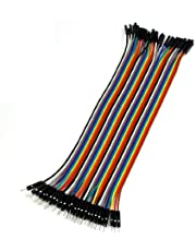 uxcell uxcell40 Pcs 1 Pin Male to Female Jumper Cable Wires 20cm Long