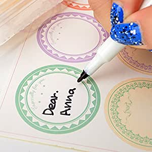 6type Circle Pastel Paper Stickers for Tags,cards,handmade Craft 5sheet 30pcs