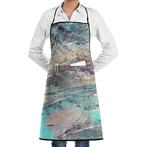 SmallTing Abstract Painting Color Texture Bright Artistic Chef Craftsmen Black One Size Apron With Pockets (Buon Appetito Oil)