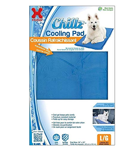 Chillz Cooling Pad For Dogs, Large - Pressure Activated Gel Dog Cooling Mat - No Need to Freeze Or Chill - Dog Gel Pads Keep Your Pet Cool, Use Indoors, Outdoors or in the Car