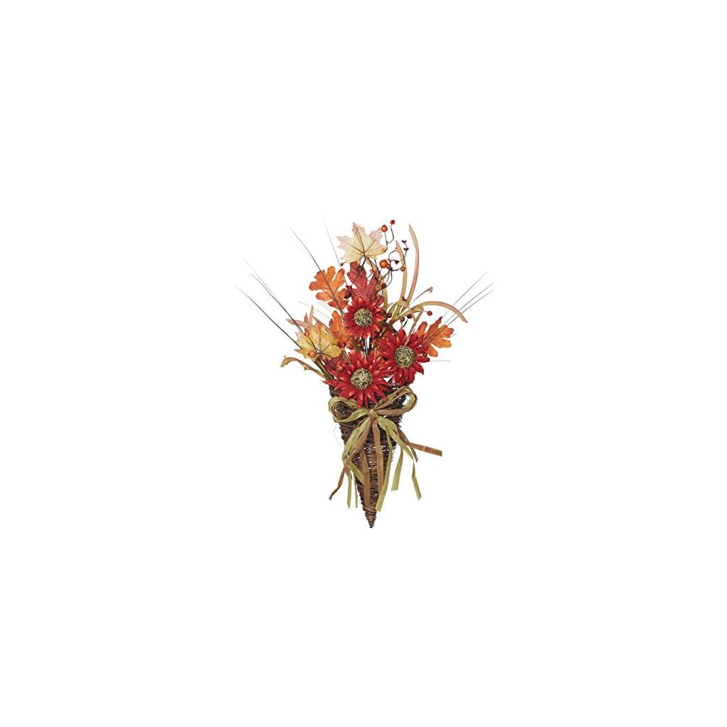 Burnt-Red-Sunflower-Wild-Flowers-with-Twig-Basket-24-x-12-Harvest-Wreath-Decoration