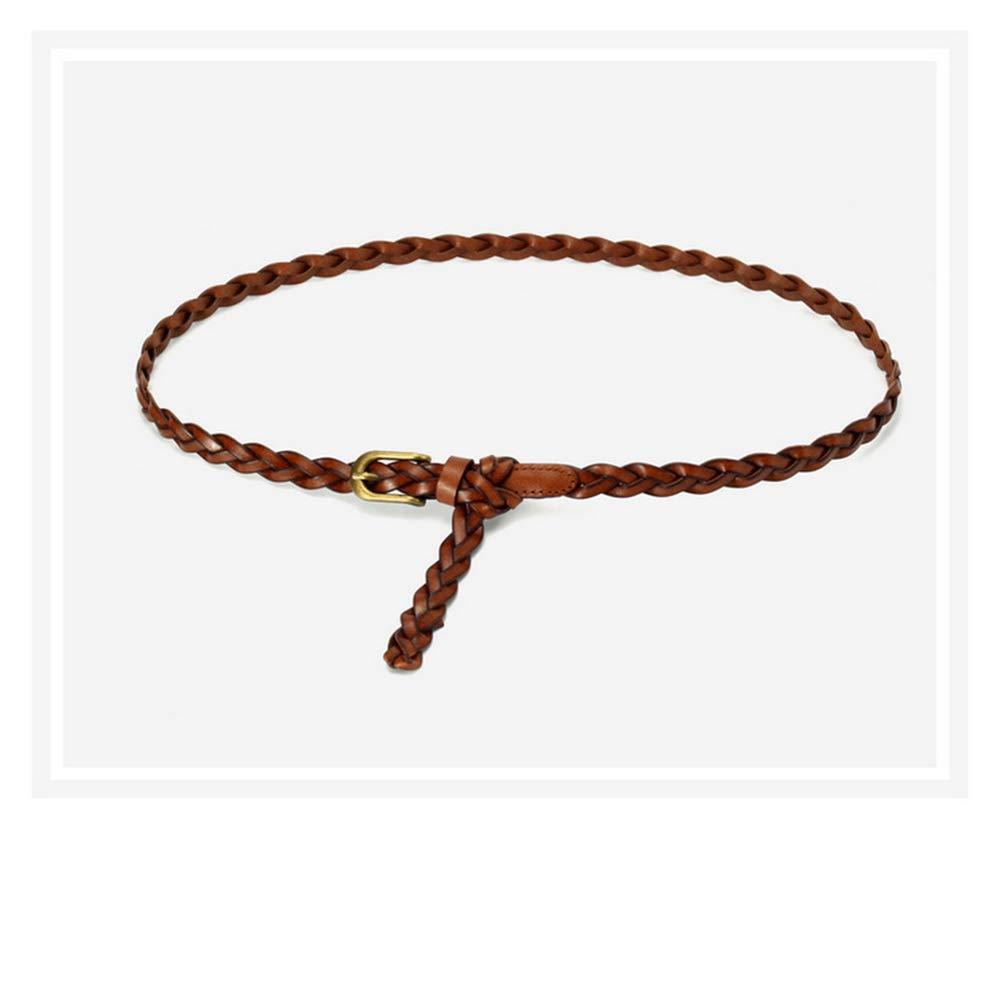 Adjustable Womens Man/'s belt Vintage Fine Woven Leather Man/'s belt Dress Decoration Comfortable