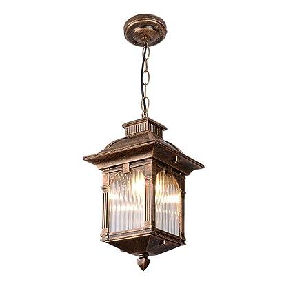 HONGOU LIGHT Vintage E27 Lámpara Colgante Exterior De Techo ...