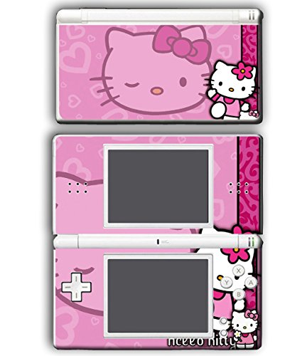 Hello Kitty Pink Hearts Flowers Mom Cat Video Game Vinyl Decal Skin Sticker Cover for Nintendo DS Lite System