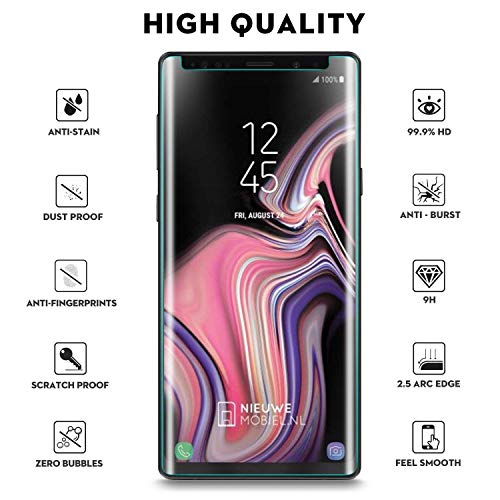 Galaxy Note 9 Screen Protector, Tempered Glass Screen Protector 3D Curved 9H Hardness HD Clear Anti-Scratch Tempered Glass Film Screen Protector Compatible Samsung Galaxy Note 9 (Clear) by my-handy-design (Image #1)