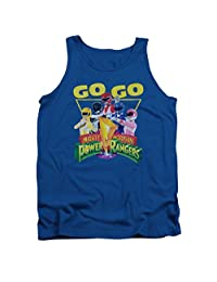 Mighty Morphin Power Rangers TV Series Go Go Group Logo Adult Tank Top Shirt