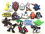 14 Star Wars & Clone Wars Shoe Charms for Fits Croc Shoes & Bracelet Wristband Kids Party Birthday Gifts