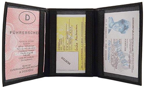 Credito D'identità Nero Di E 3 Carte germany design Bufalo marrone Colori Diversi In Pelle Porta Mj wI5qSF