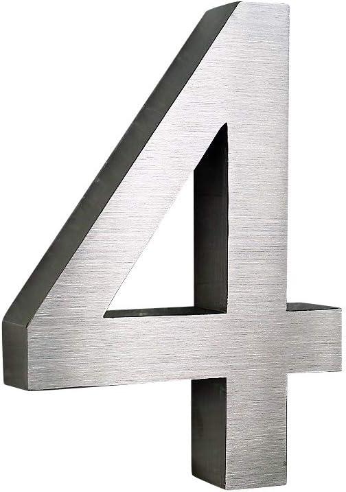 0 Hausnummer Edelstahl V2A Arial 2D rostfrei witterungsbest/ändig 20cm Hoch 0 1 2 3 4 5 6 7 8 9 a b c d erh/ältlich