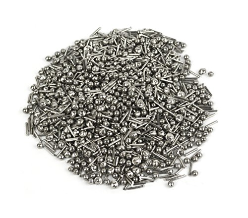 - 2.2 Lbs Stainless Steel Jeweler's Polishing Burnishing Media Shot Mix Vibratory Tumblers (Balls, Cross, Pins, Satellite Shapes)