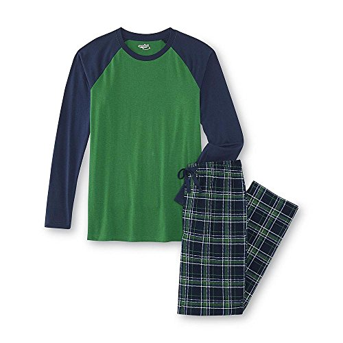 Joe Boxer Men's Pajama Shirt & Pants (L, Green)