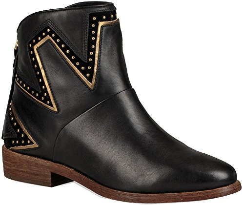 UGG Womens Lars Western Boot Black Size 7