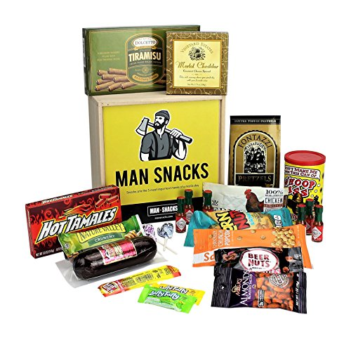 Manly Snacks Packed In A Manly Wooden Box. It