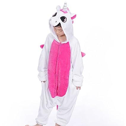 nuovo prodotto fc50f b3c66 LUOEM Pigiama Unicorno Bambini Costume Animale Carnevale ...
