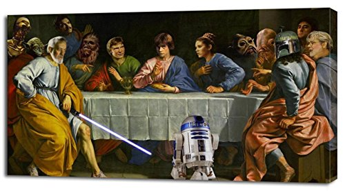 (Star Wars The Last Supper Canvas Print Home Wall Decor Movie Giclee P070, Regular)