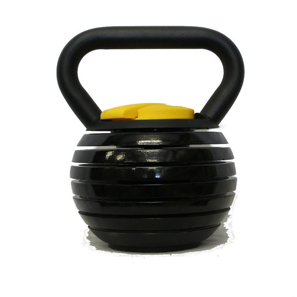 Kettlebell Kings | Black Adjustable Kettlebell Weights & Kettlebell Set | Kettlebells For Women & Men, 10 - 40 Pounds Made For Home Use, Swings, Squats, Press by Kettlebell Kings (Image #1)