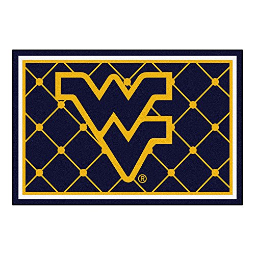 FANMATS NCAA West Virginia University Mountaineers Nylon Face 5X8 Plush Rug by Fanmats