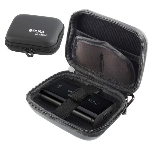DURAGADGET Jet Black Hard EVA Carry Case For The Elgato Game Capture HD60 High Definition Game Recorder