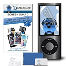 iTALKonline Apple iPod Nano 5G (5th Generation Video) Clear Transparent LCD Screen Protector Guard with MicroFibre Cleaning Cloth and Application Card