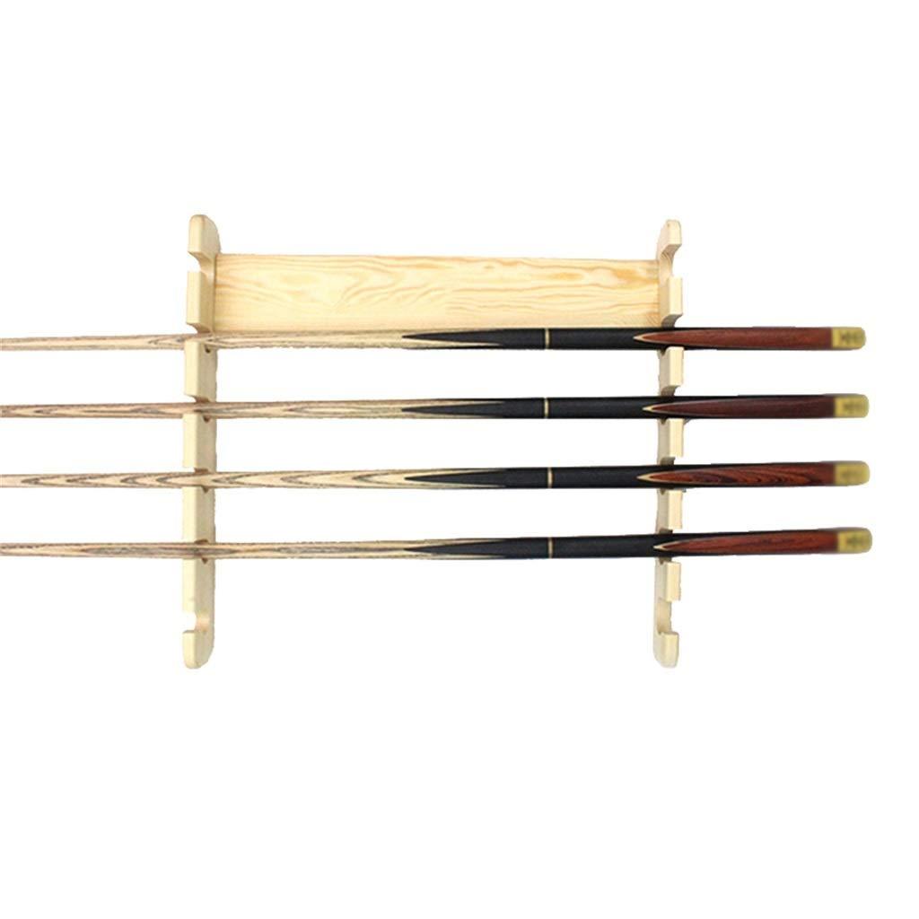 LCRACK 多孔質ビリヤードフレーム、木製ブラック8ウォールマウント多機能スヌーカー釣り竿サポートは6つの手がかりを保持します (Color : 黄) 黄