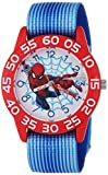 Marvel Boy's 'Spider-Man' Quartz Plastic and Nylon Casual Watch, Color Blue (Model: WMA000178)