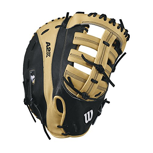 Wilson 2017 A2K 2800 Pro Stock Baseball Glove, Blonde/Black, 12