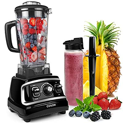 COSORI Smoothie Blender Countertop Professional Series Juicer, High Speed Food Processor Maker Mixer System with Recipe Book, Black/1500W