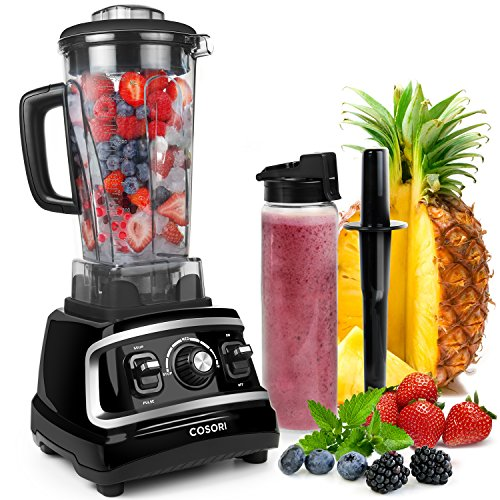 COSORI 1500W Professional Blender with Variable Speeds, Commercial High Powered Kitchen Juicer Blenders for Shakes and Smoothies Heavy Duty Food Processor Maker with 64-ounce BPA-Free Pitcher