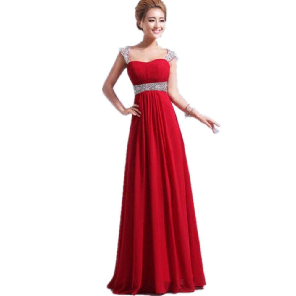 Oyvind Norberg De las mujeres gasa de Noche Formal Fiesta Vestir Dama de honor Baile de gala estudiantil Vestido (14, Red Wine): Amazon.es: Ropa y ...