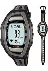 Casio Men's Heart Rate CHF100-1V Black Resin Quartz Watch with Digital Dial