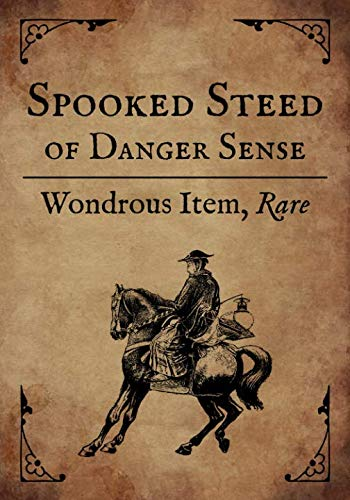RPG Journal: Blank college ruled notebook for role playing gamers: Wondrous Item: Spooked Steed of Danger Sense